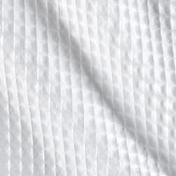Imperial Giant Waffle Pique White Fabric