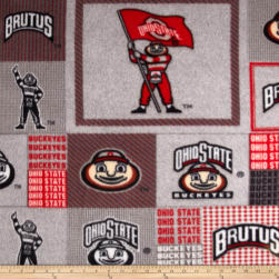 Collegiate Fleece Ohio State University Block Print Grey/Red