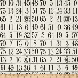 Sew Scary Number Grid Ecru