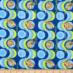 Disney Finding Nemo Flannel Blue Fabric