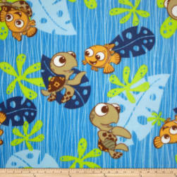 Disney Finding Nemo Fleece Blue Fabric