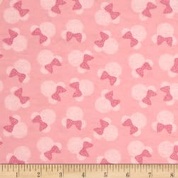 Disney Minnie Mouse Flannel Toss Pink Fabric