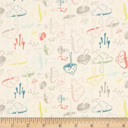 Art Gallery Hello Bear Morel Grove Powder Fabric