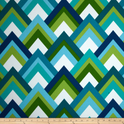 Richloom Solarium Outdoor Resort Peacock Fabric