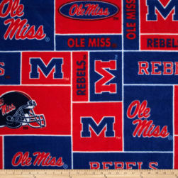 Collegiate Fleece University of Mississippi Rebels Red/Blue