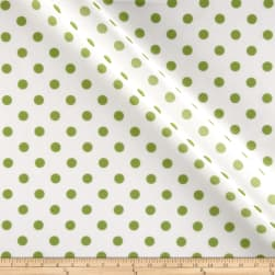 RCA Polka Dots Sheers Green Fabric