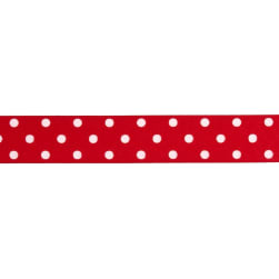"1 1/2"" Grosgrain Polka Dot Ribbon Red"