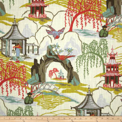 Robert Allen @ Home Neo Toile Coral Fabric