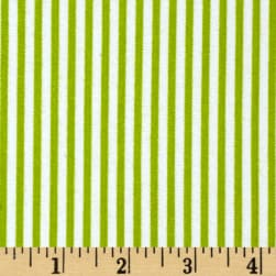 Riley Blake Merry Matryoska Flannel Stripe Green