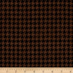 Penny Rose Menswear Flannel  Houndstooth Brown