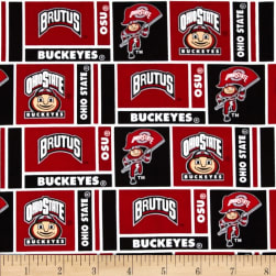 Collegiate Cotton Broadcloth Ohio State University Fabric