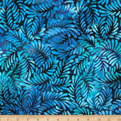 Wilmington Batiks Feathers Dark Blue