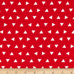 Kaufman Remix Triangles Scatter Red Fabric
