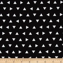 Kaufman Remix Triangles Scatter Black Fabric