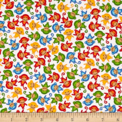 Kaufman Urban Zoologie Mini Monkeys Primary Fabric