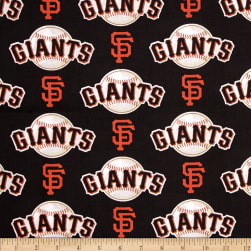 MLB Cotton Broadcloth San Francisco Giants Orange Fabric