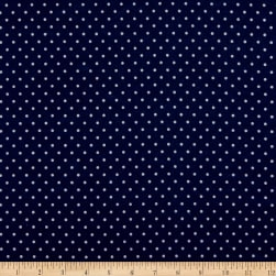 Kaufman Cozy Cotton Flannel Small Dot Navy Fabric