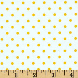 Kaufman Cozy Cotton Flannel Small Dot Sunrise Fabric