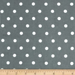 Kaufman Cozy Cotton Flannel Medium Dot Grey Fabric