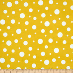 Kaufman Cozy Cotton Flannel Random Dots Yellow Fabric