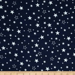 Kaufman Cozy Cotton Flannel Stars Navy Fabric