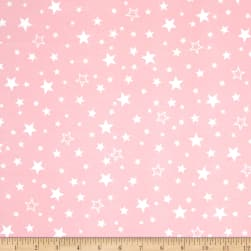 Kaufman Cozy Cotton Flannel Stars Pink Fabric