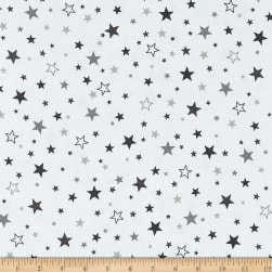 Kaufman Cozy Cotton Flannel Stars Pepper