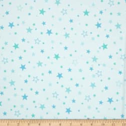 Kaufman Cozy Cotton Flannel Stars Marine Fabric
