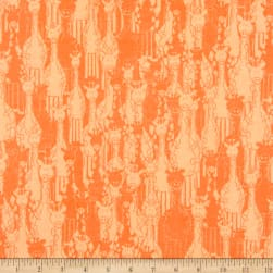 Flannel Giraffe Orange Fabric