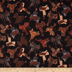 Kanvas Wild Wild West Western Saddles Black Fabric
