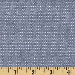 Kaufman Cotton Chambray Pin Dots Denim Fabric