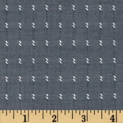 Kaufman Chambray Dobbies Hash Denim Fabric