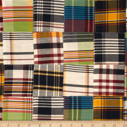 Kaufman Nantucket Patchwork Plaid Americana Fabric