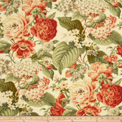 Waverly Sun N Shade Garden Party Sunset Fabric