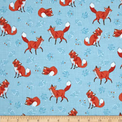 Kaufman Forest Fellow Foxes Wild Fabric