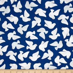 Kaufman Jingle Birds Navy