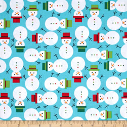 Kaufman Jingle Snowmen Winter Fabric