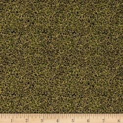 Kaufman Fusions Metallic Small Vines Olive Fabric