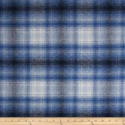 Kaufman Mammoth Flannel Plaid Blue Fabric