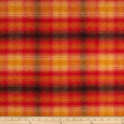 Kaufman Mammoth Flannel Plaid Sunset Fabric