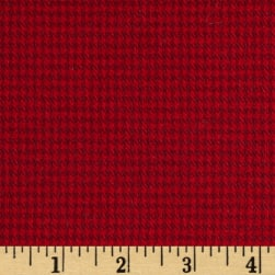 Kaufman Shetland Flannel Houndstooth Red