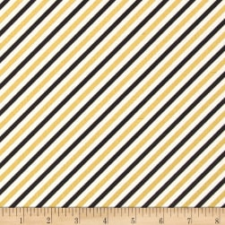 Bold & Gold Metallic Diagonal Stripe Multi