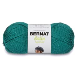 Bernat Satin Sparkle Yarn (53200) Emerald Sparkle