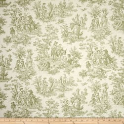 Waverly Charmed Life Toile Tarragon Fabric