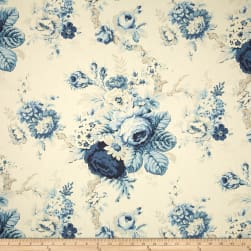 Waverly Sanctuary Rose Cornflower Fabric