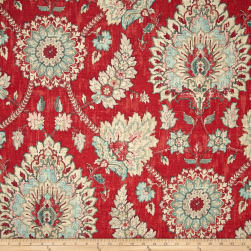 Waverly Clifton Hall Strawberry Linen Fabric