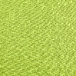 European 100% Washed Linen Lemon Grass Fabric