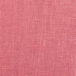 European 100% Washed Linen Rose Fabric