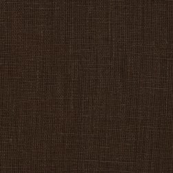 European 100% Washed Linen Bayou Brown Fabric