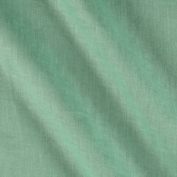 European 100% Washed Linen Aqua Fabric